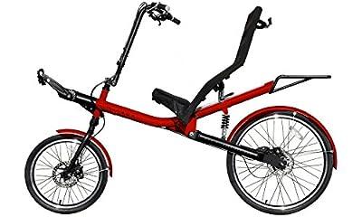 Liegerad Mirage Nomad für Erwachsene, mit Komfort-Sitz, 8-Gang Schaltung mit Kardanwelle (ohne Kette), 26 Zoll und 20 Zoll Reifen, Sesselrad / Fahrrad aus Aluminium