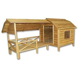 niche pour chien maison xxl bois balcon jardin terrasse porte lamelles chien jardin. Black Bedroom Furniture Sets. Home Design Ideas