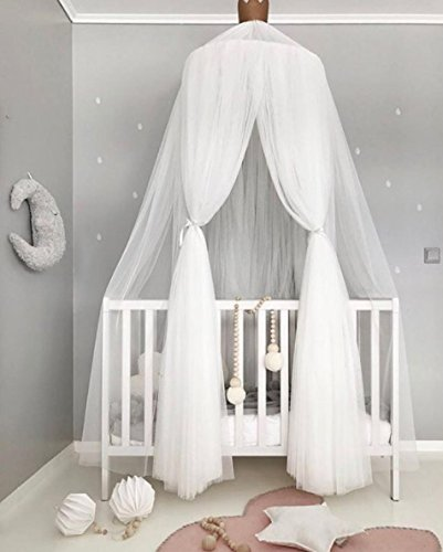 New Kids Bed Canopy Dome Crib Canopy Netting Baby Mosquito Net (White) Amazon.co.uk Baby & New Kids Bed Canopy Dome Crib Canopy Netting Baby Mosquito Net ...