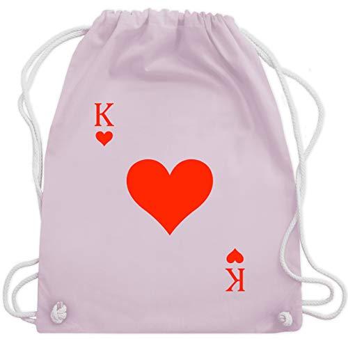Karneval & Fasching - King Kartenspiel Karneval Kostüm - Unisize - Pastell Rosa - WM110 - Turnbeutel & Gym ()
