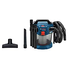 Bosch Professional 18V System Akku Staubsauger GAS 18V-10 L (ohne Akkus und Ladegerät, mit Flachfaltenfilter, Bodendüse, Fugendüse, 1,6m Schlauch, Volumenstrom bis zu 24 l/sec (Turbine))