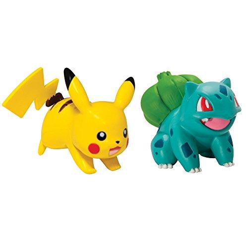 Tomy Pokémon - T18757 - Figurine de Combat Pikachu + Bulbizarre