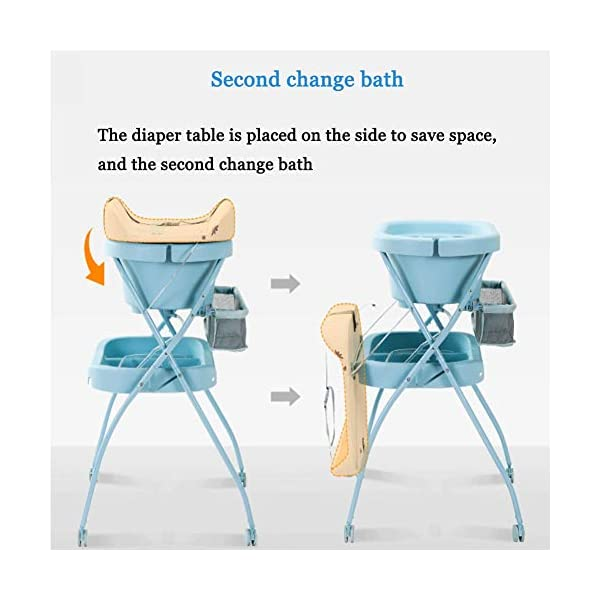 Mr.LQ Diaper Table Baby Care Table Shower Table Newborn Baby Change Diaper Massage Touch Table Foldable Mr.LQ Say goodbye to abdomen, as long as a change of diaper table, change diapers, massage care, high frequency, stand to change diapers, baby care, good waist, easy to play, more safe, safer 3D filled countertop, refusal to sign ordinary sponge, select high-resistance, high-pressure resistant erect cotton inner core, soft and hard fit the baby's body, baby is comfortable and not easy to resist Dirty and water-proof, it is clean and clean, PU leather surface, stains can be easily wiped off, more clean and hygienic 2