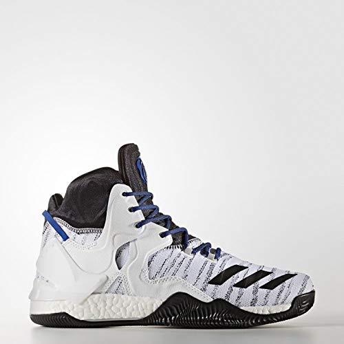 adidas Herren D Rose 7 Primeknit Basketballschuhe, Bianco (Blanco (Ftwbla/Negbas / Escarl), 48 EU