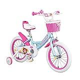 Kinderfahrräder Mädchen Fahrrad 3-6 Jähriges 14 Zoll Fahrräder Rosa Fahrräder Mädchen Geburtstagsgeschenk Fahrrad Für Kinder (Color : Blue, Size : 14inches)