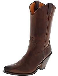 FB Fashion Boots Sendra Boots 15422 Tang Piel Botas para Mujer Marrón Western Botas