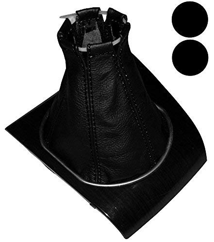 Aerzetix - Schaltsack Schalthebelmanschetten Schalthebelmanschette Schaltbetätigungs Schwarze Farbe 100% schwarzen Nähten