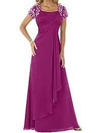 Ivydressing Vestido de noche para mujer de manga corta con pedrería fucsia 50