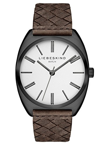 Liebeskind Berlin Damen Analog Quarz Uhr mit Leder Armband LT-0049-LQ
