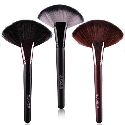 SMX&xh Poudre pour le visage Blush Large Fan Nylon Hair Maquillage Fondation Brosse cosmétique 3PCS