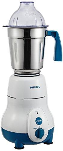 Philips Hl1645 750 W Vertical Mixer Grinder (Blue & White, 3 Jars)