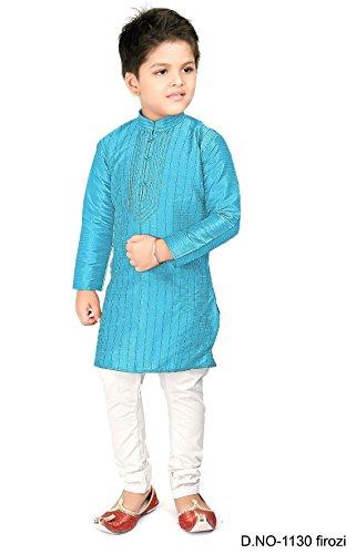 BEDI'S JUNGEN KURTA PAJAMA Indische Hochzeitsparty Wear Bollywood - FEROZI (Indische Herrenbekleidung)