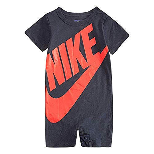 Nike Baby Boy Infant Shortall (Obsidian (56D369-695)/University Red, 6-9 Months)
