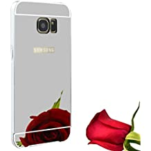 Funda Espejo Aluminio Metal Carcasa para Samsung Galaxy S6 Color Plata