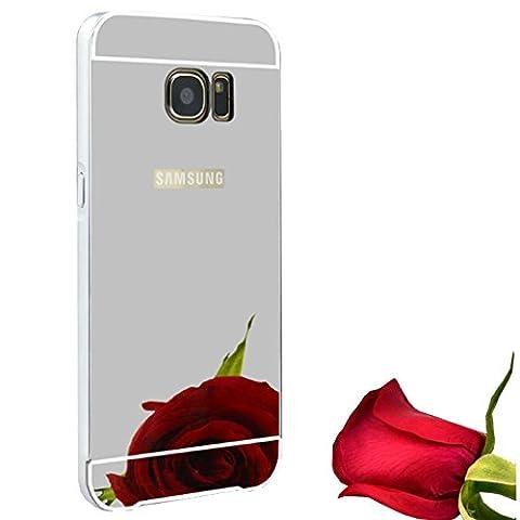 Coque Miroir Aluminium métal pour Samsung Galaxy S6 en Argent