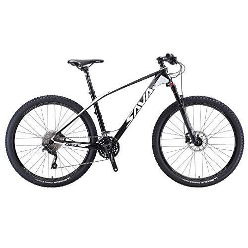 Sava DECK700 27.5/29 Bicicleta de Montaña de Fibra de Carbono MTB 22S Shimano 8000 DEORE XT Hard Tail Bicicleta SRAM ROCKSHOX FS Air Fork SRAM Disc Brake Mountain Bike Michelin Neumáticos