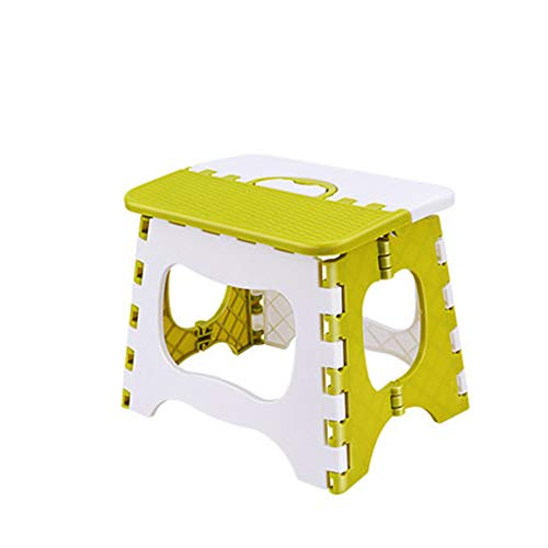HongTeng Kunststoff klappstuhl einfachen Stuhl Erwachsenen Hause Mazar Falten kleine Bank Outdoor tragbare Angeln hocker (Color : Green, Size : M) -
