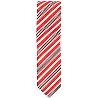 cravatta stretto club cravatta poliestere rosso bianco