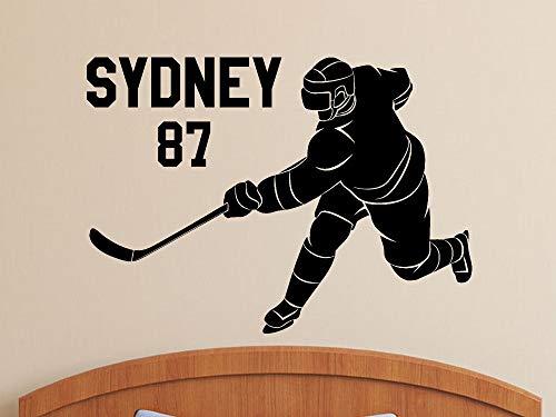 Hockey Wall DecalSticker personalisierte Spieler Name und Nummer Boys Room Decor Eishockey Geschenke