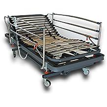 Ventadecolchones - Camas Articuladas Geriátrica de Hospital medida 90 x 190 cm con juego de barandillas