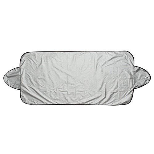 ZHIXX MALL Auto Frontscheibe Sonnenschutz Sonnenblende Sonnenschutz Hitzeschutz, Staub, Dreck, Frost, und Schnee UV Schutz Autoscheibenabdeckung -150 * 70cm ,Silber