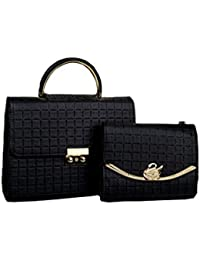 Vardha Women Handbags With Big And Small Size (Pure Black And Wonderfull Look)