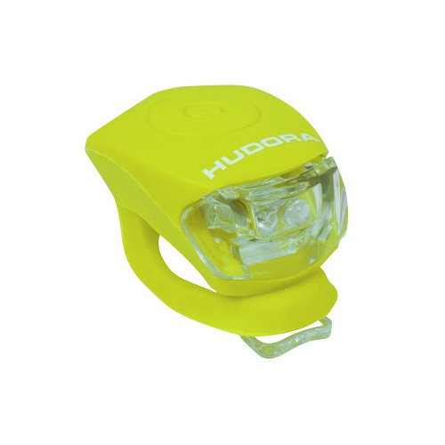 HUDORA LED Licht Shine, limegrün, LED Lampe inkl. Batterien und 2 Funktion: Blink- und Dauerlicht