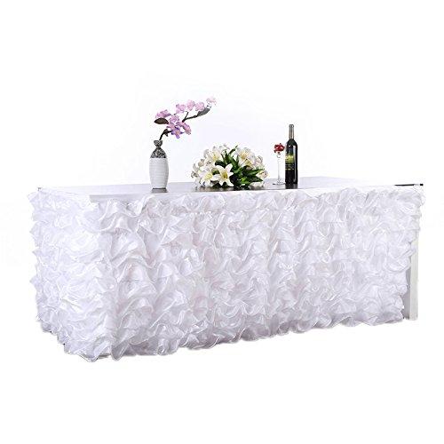 Lanlan Handmade Elegantes Tüll Tisch Rock für Partys, Meetings, Hochzeit und Home Dekoration Rosa, weiß (Navy Plaid-rock)