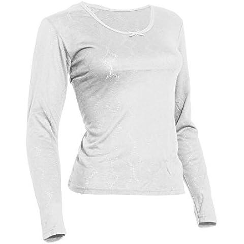 FLOSO - Camiseta térmica interior de manga larga de viscosa para mujer