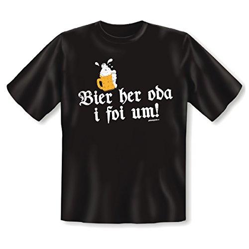 T-Shirt ::: Bier her oda... ::: Herren Schwarz Schwarz