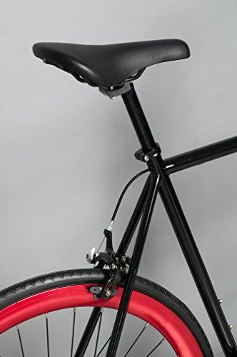 Vilano Rampage Fixed Gear Fixie Single Speed Road Bike (Black/Red, 50cm)