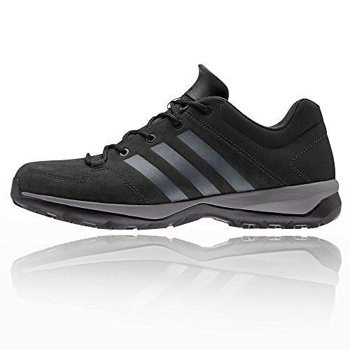 adidas Daroga Plus Lea-Stivali da Montagna, Uomo Nero (Negbas/Granit/Negbas)