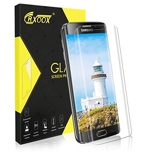 Panzerglas Schutzfolie für Samsung Galaxy S6 Edge, [3D Volle Bedeckung] [Anti-Kratzer/Ultra Resistent] [Einfache Installation] [Blasenfrei] [3D Touch/9H Härte] -für Samsung Galaxy S6 Edge- Transparent