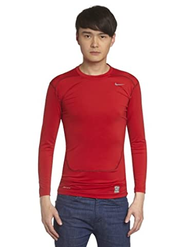 NIKE Herren Kompressions Shirt Core Compression NFS, Gym Red/Cool Grey, S, 449794-653