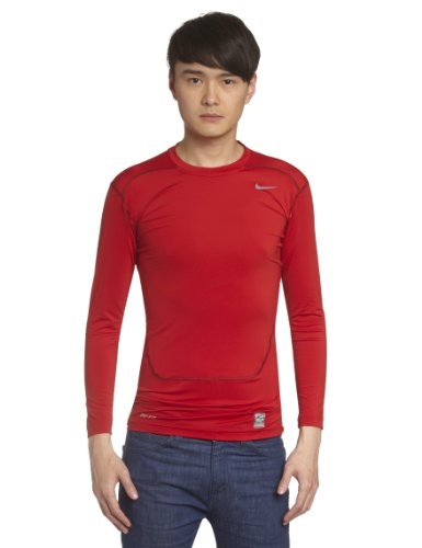 Nike Herren Kompressions Shirt Core Compression NFS Kompressionsshirt, Gym Red/Cool Grey, XXL (Nike T-shirt Combat Pro)