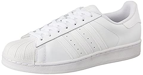 adidas Superstar Foundation, Unisex-Erwachsene Sneakers, Weiß (Ftwr White/Ftwr White/Ftwr White),