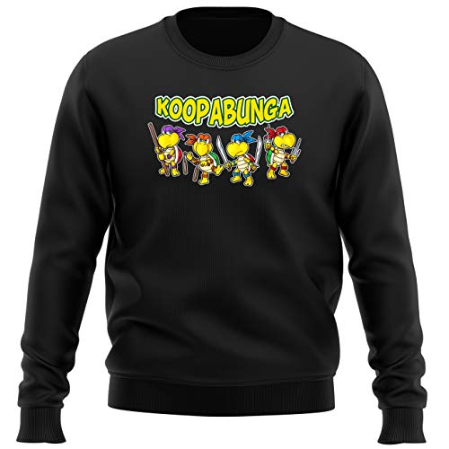 Sudadera Videojuego - Parodia de Super Mario Bros y Tortugas Ninja (832)