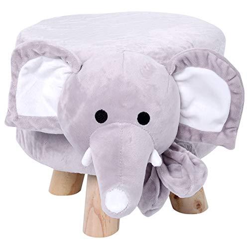 Acouto Reposapiés de Elefante, Reposapiés de Almacenamiento, Animales Lindos Forma de Oveja Reposapiés de Almacenamiento Reposo de Asiento para niños Decoración de la habitación