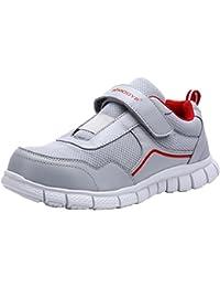 Zapatillas de Seguridad Mujer, LM-30, Zapatos de Trabajo con Punta de Acero Ultra Liviano Suave y cómodo Transpirable (37 EU, Gris)