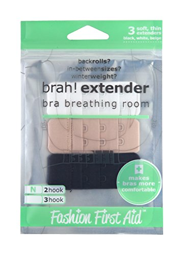 Fashion First Aid Fashion First Aid: Brah! Extender BH Verlängerung Rückenteil-Extender Verlängerung des BH-Verschlusses 3-Stück 2-Haken Schmal
