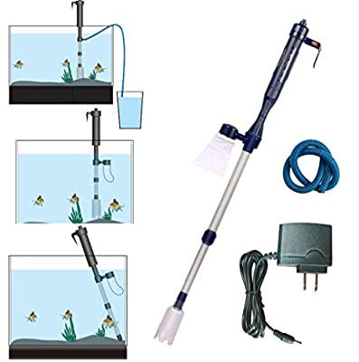 Electric Fish Tank Vacuum Cleaner Battery Syphon Operated Gravel Water Filter Cleaner Sand Washer