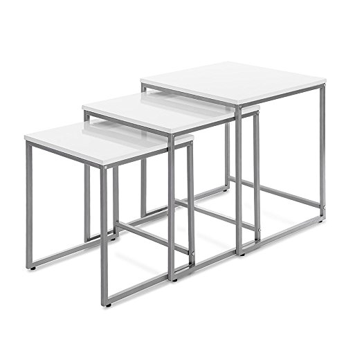 IKAYAA Nesting Tables Nest Of Tables End Tables Side for sale  Delivered anywhere in UK