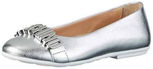 Moschino Mädchen 25555 Laminato Argento Geschlossene Ballerinas Silber (Silber)