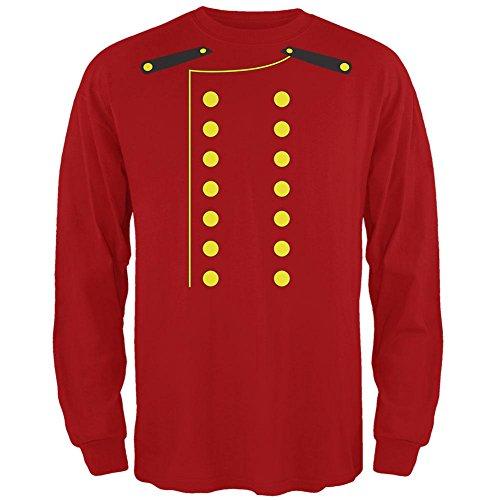 lpage Kostüm rot Erwachsenen Langarm T-Shirt-Medium (Halloween-t-shirts Für Erwachsene)