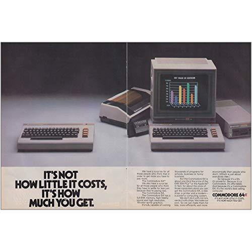 RelicPaper 1984 Commodore 64: How Little It Costs, Commodore Computer Druckanzeige