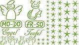 Autoaufkleber Sticker Aufkleber Set für Auto Schriftzug Engel Mo-Do Fr-So Teufe (063 lindgrün)