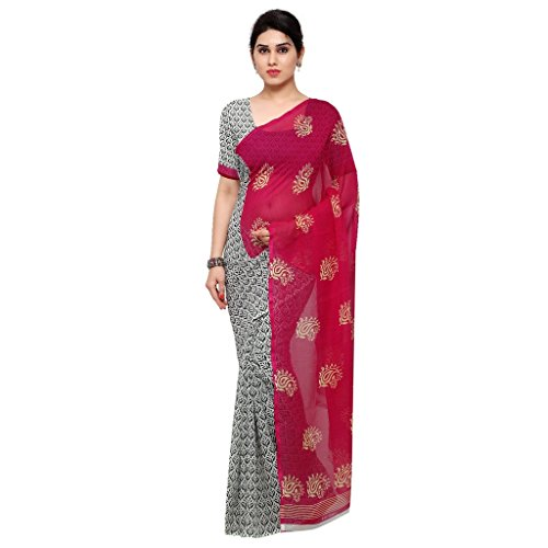 Kashvi Sarees Faux Georgette Pink & Multi Color Printed Saree With Blouse Piece ( 1198_1 )  available at amazon for Rs.249