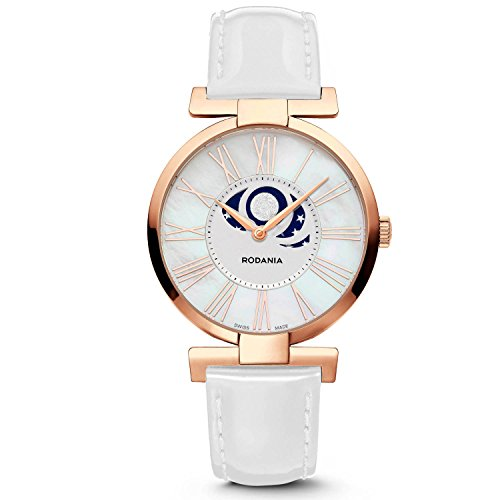 RODANIA 25106 – 33 – Watch For Women, White Leather Strap