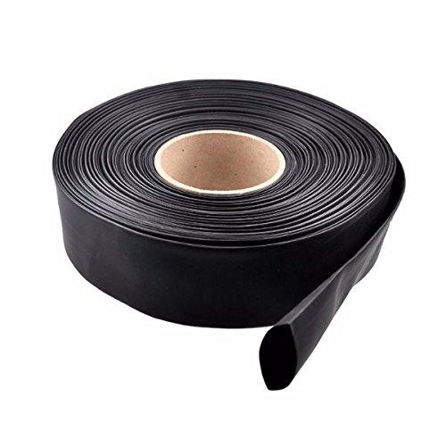 LaDicha 1M PVC Wärmeschrumpfschlauch Schwarz 30/40/46/50/60/70/86Mm Breit Für Lipo Batterie - 86Mm