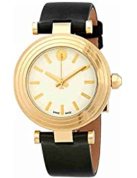 Tory Burch T clásico Dial marfil cuero señoras reloj TB9003 Marfil